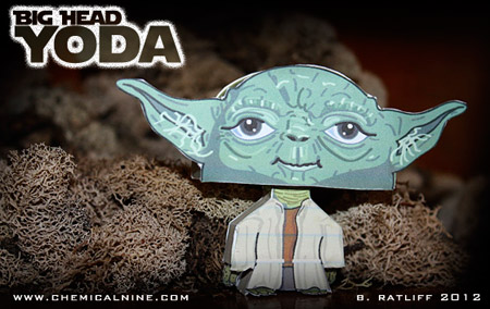 Big Head Yoda Paper Toy