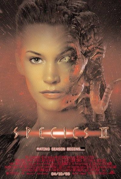Poster Of Species II (1998) Full Movie Hindi Dubbed Free Download Watch Online At Alldownloads4u.Com