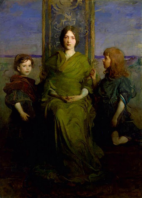 Abbott Handerson Thayer - Virgin Enthroned
