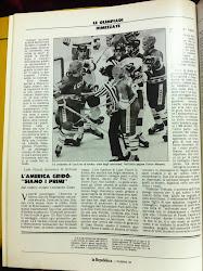 Le Olimpiadi dimezzate raccontate da Leonardo Coen. Lake Placid. 22 febbraio 1980. L'America gridò: 'Siamo primi'