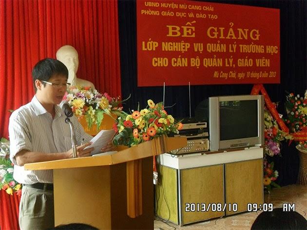 Lễ bế giảng lớp Nghiệp vụ quản lý trường học K30 hè 2013 tại Mù Cang Chải