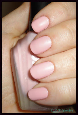 knockout matte nail polish calamine swatch