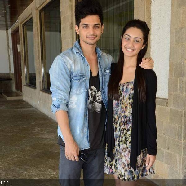 Young actors  Yuvraj Thakur and Abigail Jain during the launch of TV    Yuvraj Thakur And Abigail Jain Dating