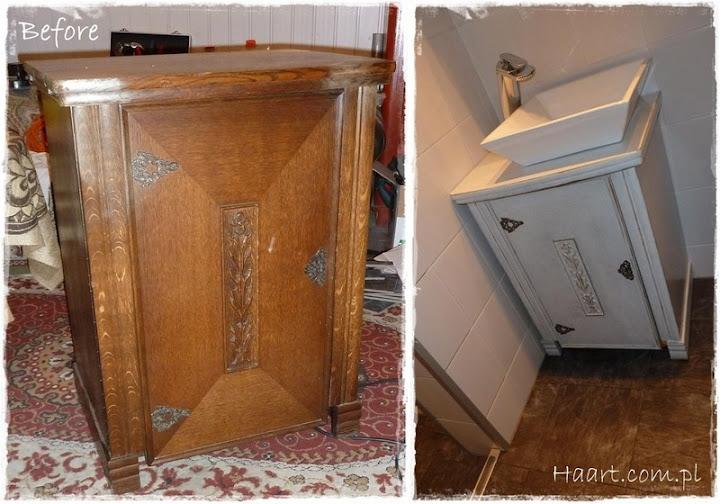 maszyna do szycia szafka pod umywalkę vintage - haart.pl blog diy zrób to sam 1