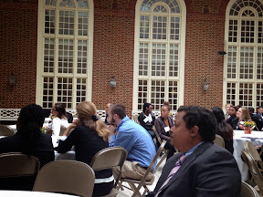 enjoying the lunchtime speaker at the 2013 Hampton Roads MPC