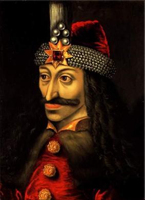 Oleo del vioda Vlad III de Valaquia, más conoicido como Vlad el Empalador (Vlad Țepeș) - Sighișoara