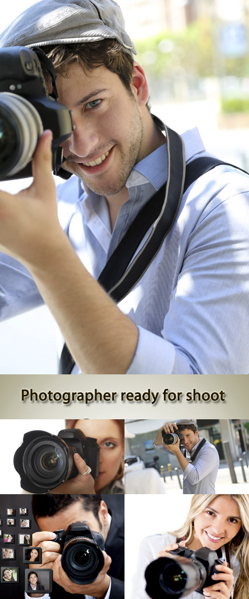 Stock Photo: Photographer ready for shoot