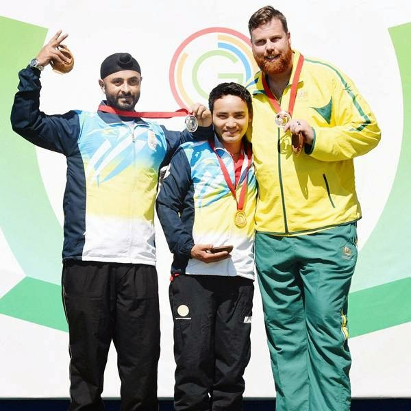 It was once again shooting that brought India more laurels as the duo bagged the country's 10th and 11th medals from the discipline at the 2014 Games. India are now placed fourth in the standings behind Australia, England and Scotland with a total of 24 medals -- 7 gold, 10 silver and 7 bronze.