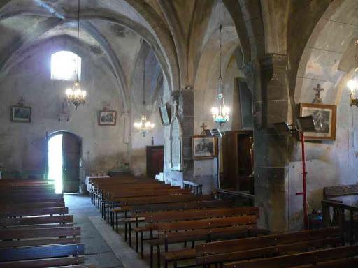 Dans l'église de Blassac