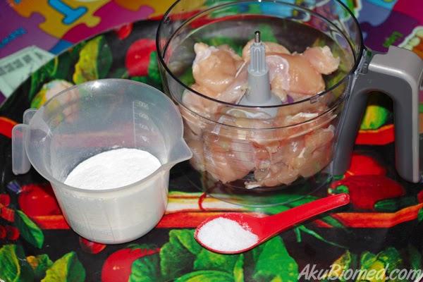 bahan-bahan untuk <u>membuat nugget</u>