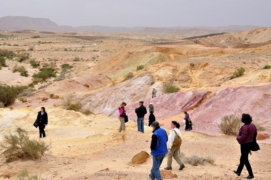 Гуляем и любуемся цветными песками и панорамами кратера Махтеш Гадоль. Экскурсия гида Светланы Фиалковой в пустыню Негев.