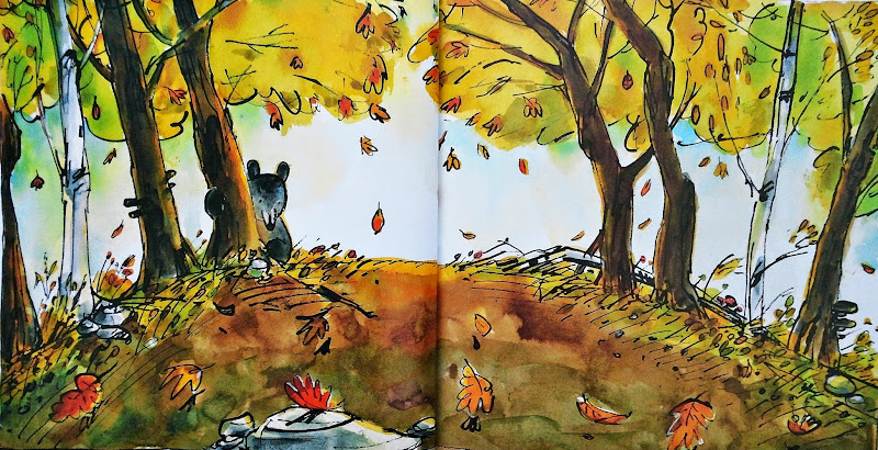 아기곰과 나뭇잎