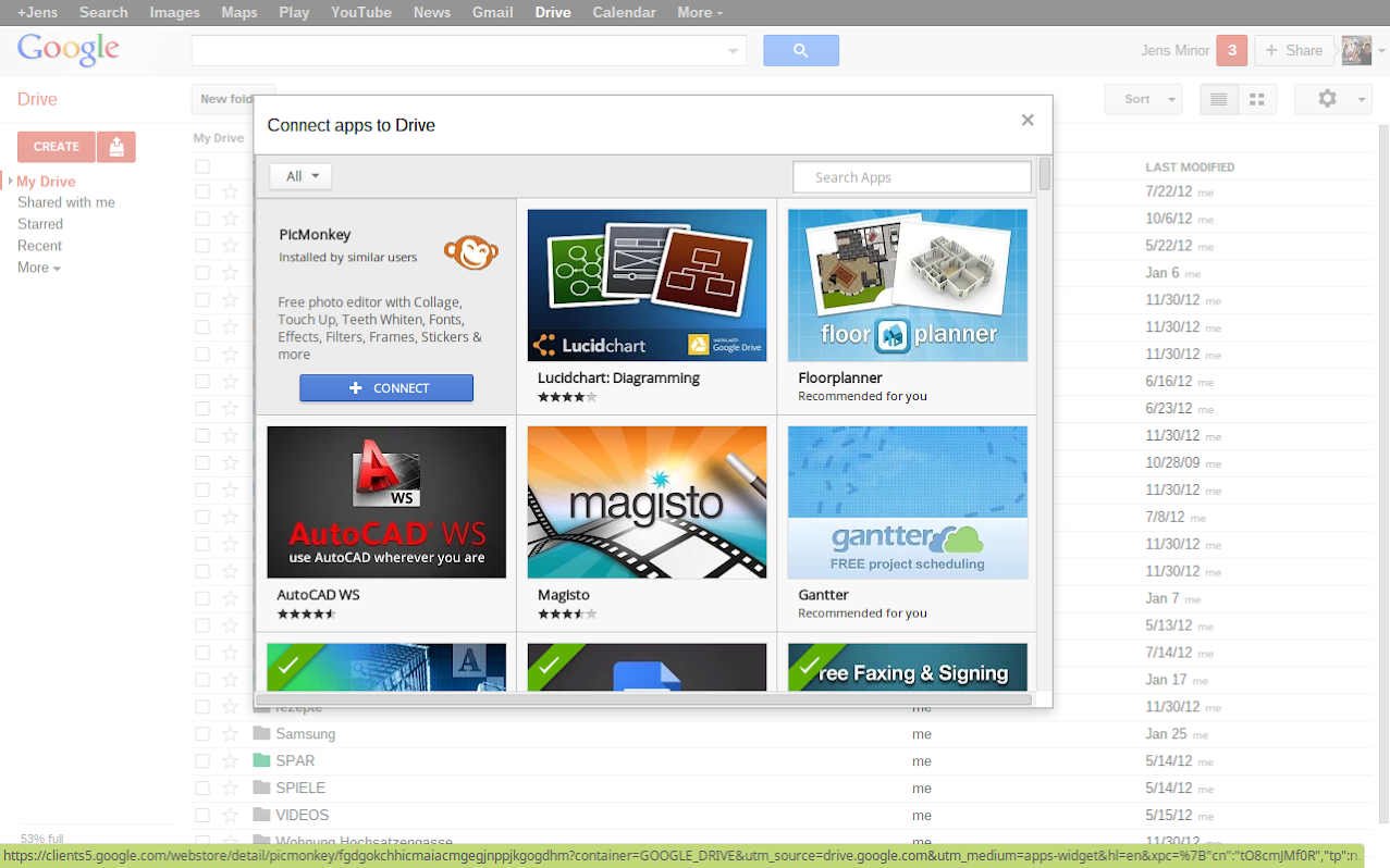 Google Drive Web Apps