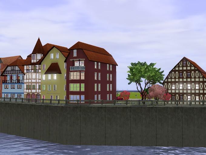 budynki kronos club od strony kanału