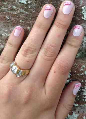 Lfa French Pink Bow Nail Art Topshop