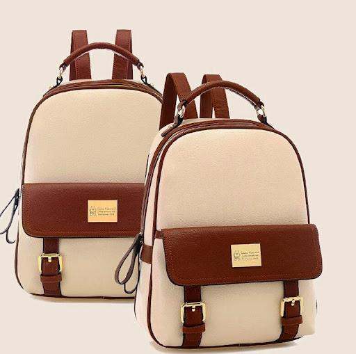 mochila rushed fashion women backpacks patchwork bear g