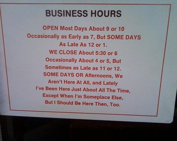 Complicated Business Hours