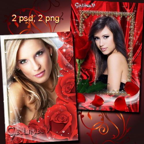 Фоторамки - Красные розы, символ любви
