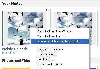 facebook photo album download