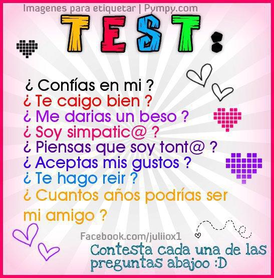 Imagenes De Amor Test De Amistad Para Etiquetar En Facebook