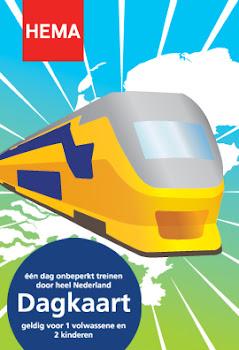 ЖД Голландии, проездной по всей Голландии на день 13,99 евро.