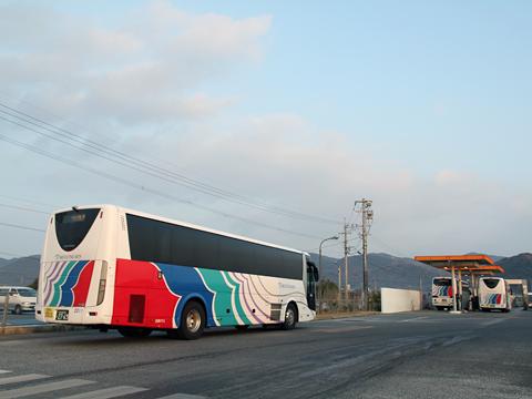 名鉄バス「不知火号」 2912&2607&2011 九州産交バス西部車庫到着 その1
