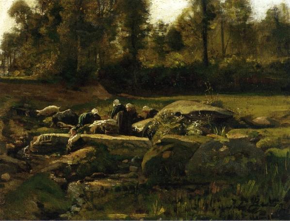 Jules Breton - Breton Laundresses at Douarnenez