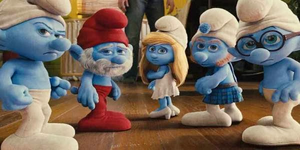 Screen Shot Of Hollywood Movie The Smurfs (2011) In Hindi English Full Movie Free Download And Watch Online at Alldownloads4u.Com