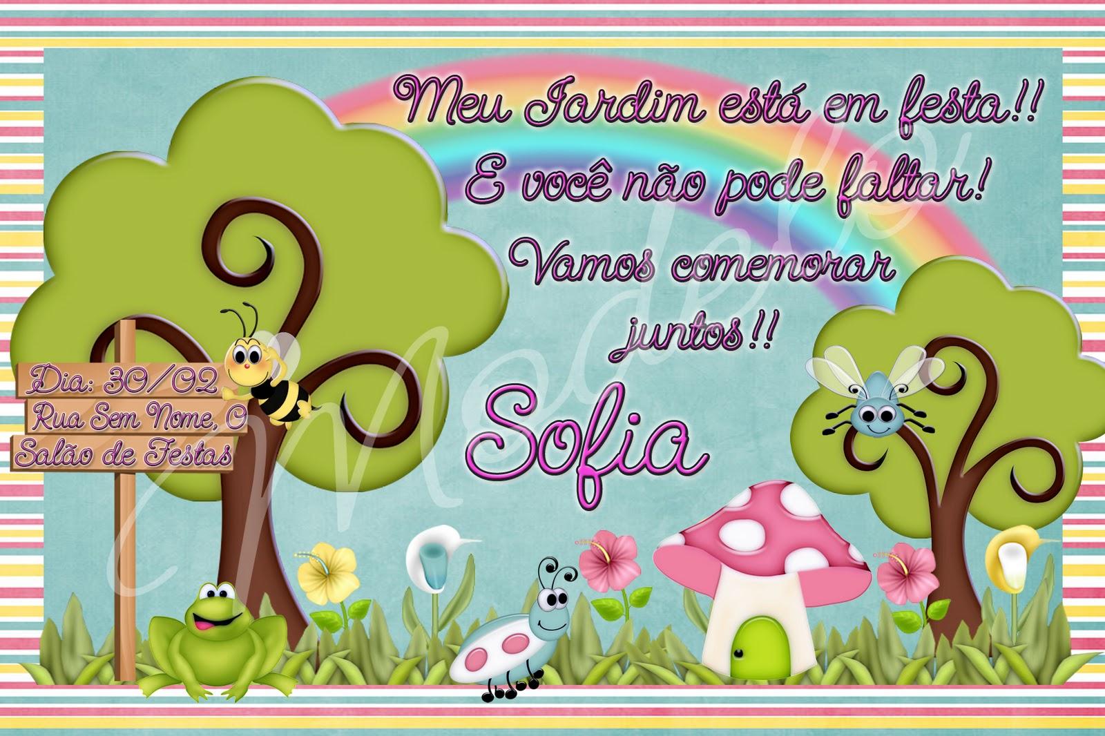 festa jardim convite : festa jardim convite:ʚɞ..ʚɞ Little Art Festasʚɞ..ʚɞ: Convite Infantil – Jardim
