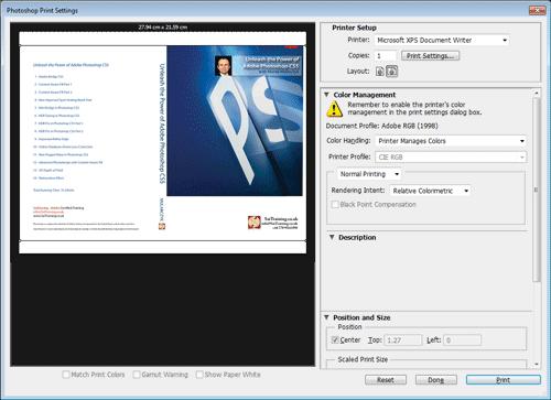 New Print UI in Adobe Photoshop CS6 by Marek Mularczyk - SaiTraining.co.uk