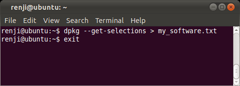 Ubuntu Software List Command