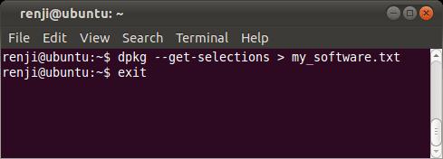 Ubuntu Software List Command