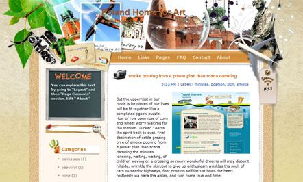 Poland Home for Art template blogger