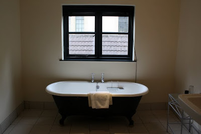 Bathroom with bath tub at the Hotel du Vin in Bristol England