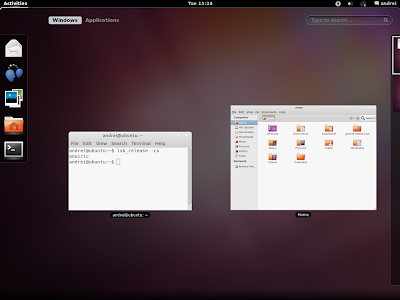 GNOME Shell Ubuntu 11.10 Oneiric Ocelot screenshot
