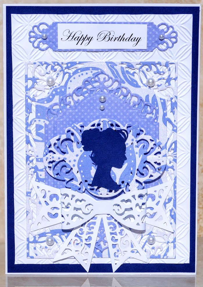 Lady Silhouette Card