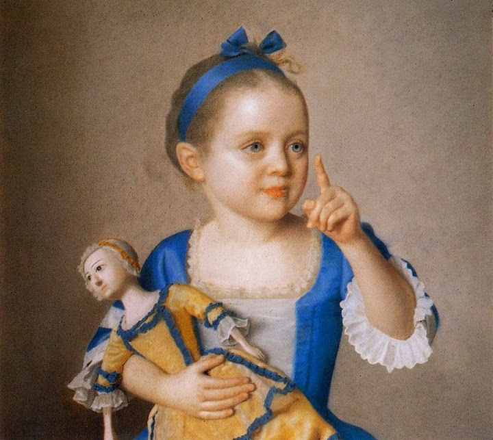 Jean-Étienne Liotard - Girl with doll, daughter of the painter and godchild of Maria Theresia