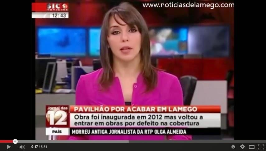 Vídeo - Reportagem sobre o Pavilhão Multiusos de Lamego - SIC - 27 de Dezembro