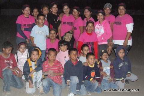 Equipo Subiris de Vallecillo de softbol femenil en el Club Sertoma