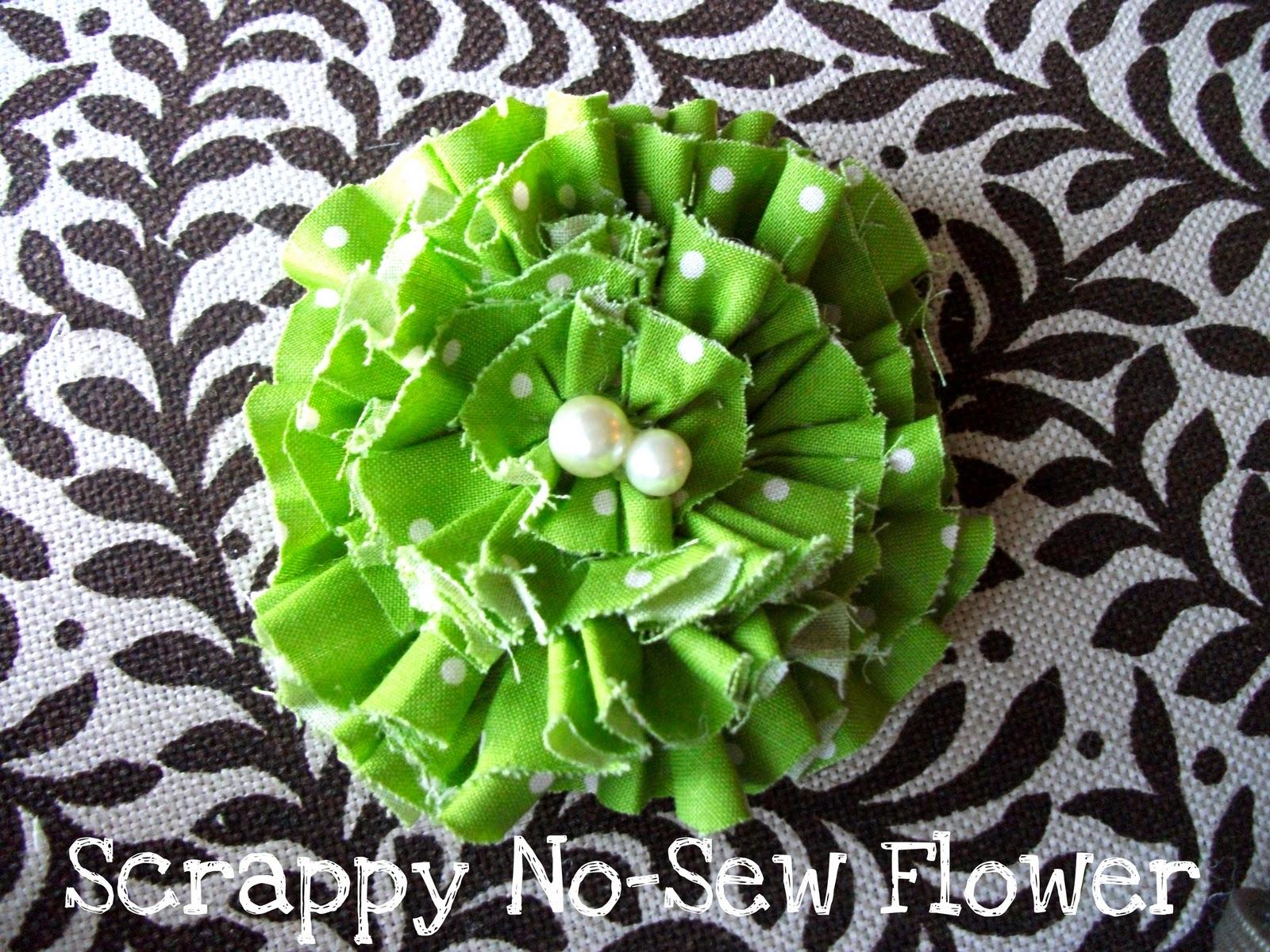 Miss Lovie Scrappy No Sew Flower Tutorial