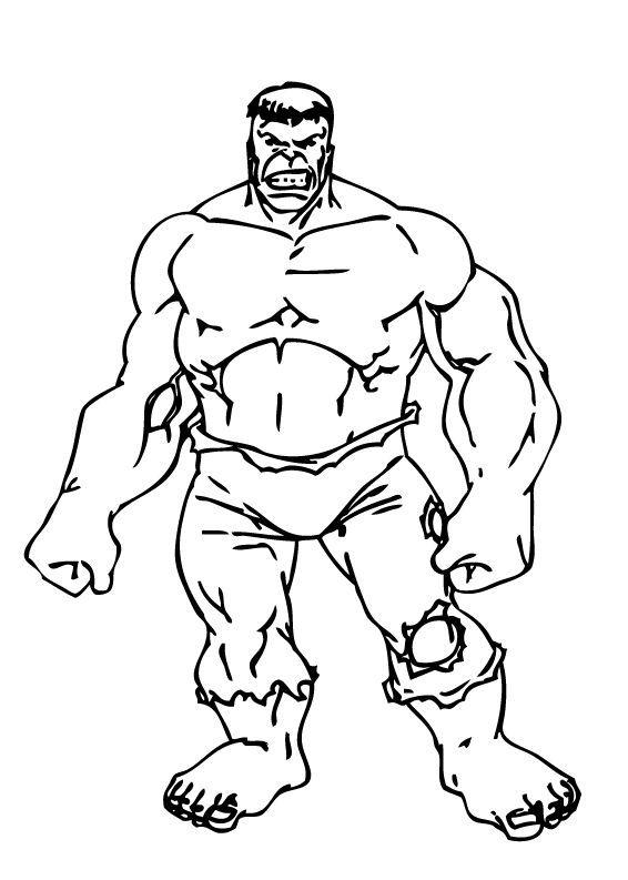 Hulk el Monstruo verde para colorear | Dibujos para Colorear Gratis