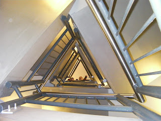 triangular staircase in the spinnaker tower, portsmouth
