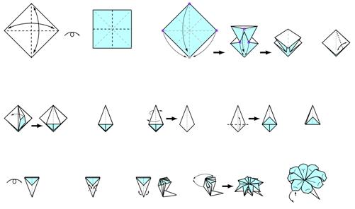 Origami instructions flower petal origami flower easy origami instructions flower petal mightylinksfo