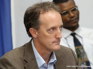 Scott Campbell, directeur Bureau Conjoint des Nations-unies aux Droits de l'Homme (BCNUDH), lors de la conférence de l'Onu a Kinshasa. Radio Okapi/Ph. John Bompengo