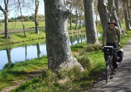 Kristian am Canal du Midi