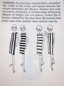 vertical stripes slimming effect