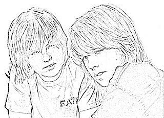 Dylan Sprouse and Cole Sprouse Sketch