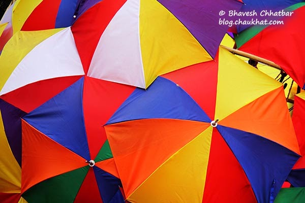 Kala Ghoda - Colorful umbrellas