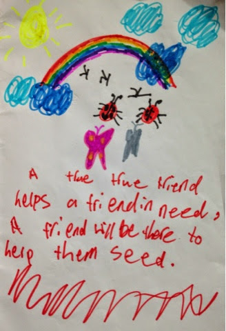 Poem and drawing by children
