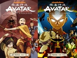 Avatar The Last Airbender: The Promise parts 2 and 3 by Gene Luen Yang